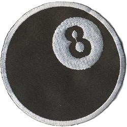 8 Ball Broderat Tygmärke