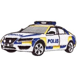 Polisbil Broderat Tygmärke
