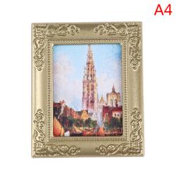 1:12 Dollhouse Miniature Frame Oil Painting DIY Doll House Acce A4