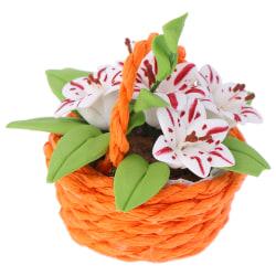 1:12 DollHouse Miniature Potted PlantOrnament Mini Flowers Pot