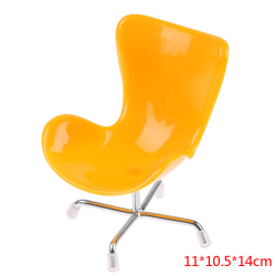 1/12 Mini Dollhouse Rocking Chair Model Toy DIY Miniature Scene Yellow