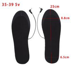 1 Pair USB Heated Shoe Insoles Foot Warming Pad Winter Feet Warm 35-39,5V