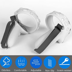 1 pair With Knuckle Strap 3in1 Touch Controller Grip Cover Touc
