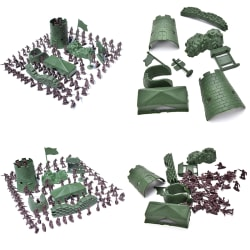 100 Pcs/Set 3cm Soldier City Gate Tower Sandbag Military Model f