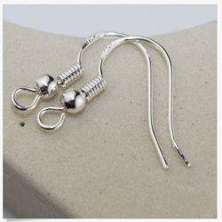 100PCS DIY Jewelry Findings 925Sterli silver French Hook Earrin
