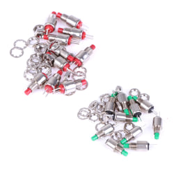 10pcs 5mm spring return momentary micro push button switch 0.5A  Green