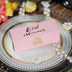 10PCs Eid Mubarak Candy Box DIY Gift Box Ramadan Decor Happy Ram Pink