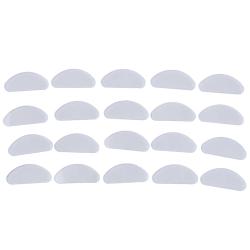 10st Glasögon nässkydd glasögon självhäftande silikon nässkydd Transparent