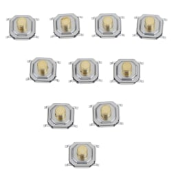 10Pcs Micro waterproof copper tactile tact touch push button swi one size