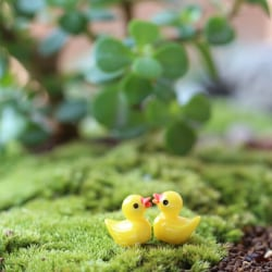 10pcs Miniature Resin Yellow Ducks Dollhouse Craft Fairy Garden