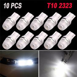 10X White High Power T10 Wedge 2323 2 LED Car Light Bulbs W5W 1