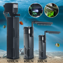 1200L/H Internal Aquarium Filter Submersible Fish Tank Pump Spr M