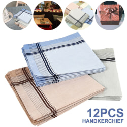 12X Men's handkerchiefs Men's handkerchiefs fabric 100% cotton s one size