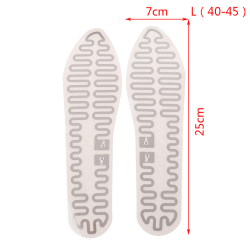 1Pair 12V Shoe  Insoles Heated USB Electric Winter Pads Film Hea L