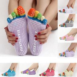 1Pair Anti-Slip Women Ankle Grip Durable Colorful Five Fingers C 蓝色