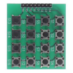 1Pc 4x4 Matrix Keypad Keyboard module 16 Botton For Arduino one size