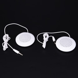 1pcs 3.5mm Pillow Speaker For MP3 MP4 Music Player CD Radio Por white