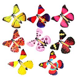 2 pcs Magic flying plastic butterfly surprise birthday christma