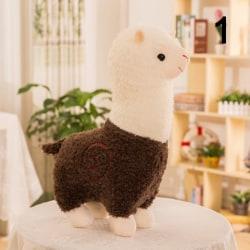 28cm Cartoon Alpaca Plush Doll Toy Animal Plush Llama for Baby  Brown