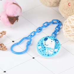 2Pcs Baby Pacifier Chains Safe Teething Baby Teether Pacifier Cl C