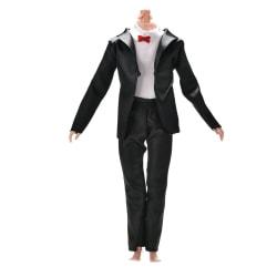 2Pcs/Set Handmake Suit Pant Set for Barbie Ken Dolls 3 Colors Black