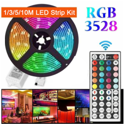RGB 3528 LED Strip Light With Gum DC12V-10Meter