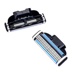 4Pcs Mach 3 Cartridges Manual Razor Blades Shaving Three-layer