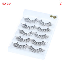 5 Pairs 6D s Natural Long Wispies Lashes Handmade Criss-cross E 2(6D-014)