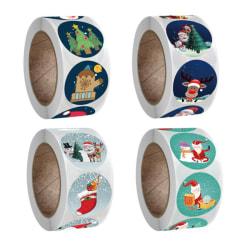500st 25MM tecknad Santa Snowman Merry Christmas Stickers Seal