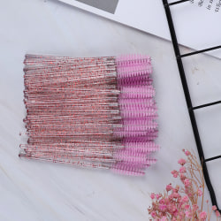 50pcs Disposable Mascara Wand Brush Eyelash Extension Applicato Pink
