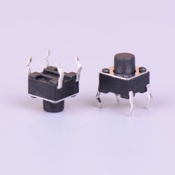 50pcs Micro switch 6*6*6mm 4pin momentary tactile push button sw Black