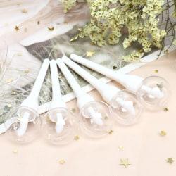 5pcs 6ml Lollipop Empty Lip Gloss Tube Mini Refillable Bottles  White