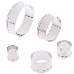 5st DIY Round Polymer Clay Cutter Forms Pottery Ceramic Cuttin