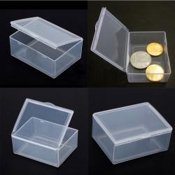 5pcs Transparent Plastic Storage Box clear  rectangle Multipurpo