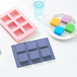 6 Cavity plain basic rectangle silicone mould for homemade craft