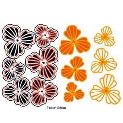 6st Blommor Design Metallskärmunstycken För DIY Scrapbooking Alb