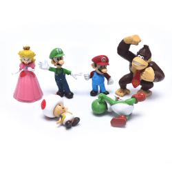 6Pcs/Set Dolls Mario Bros PVC Action Figure Toys PVC Action Fig