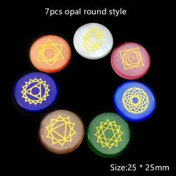 7 Chakra Natural Crystal Agate Jade Opal Natural Stone Gemstones 1