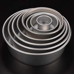 8 Size Aluminum Alloy Removable Bottom Round Cake Baking Mould  2''''