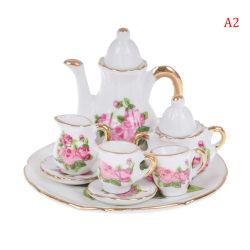 8Pcs/set 1:12 Dollhouse Miniature Dining Ware Porcelain Tea Dis A2