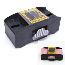 Automatic Poker Card Shuffler Battery Operated Game Playing Shu black