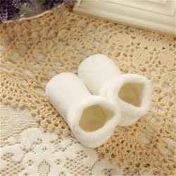 Baby Girl Boy Newborn Winter Warm Boots Toddler Infant Soft Sock White M