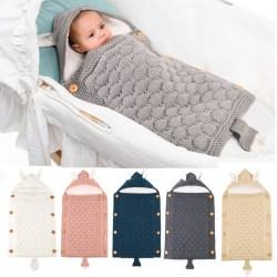 Babysovsäckar Kuvert 0-6M Nyfödda Bebes Swaddle Wrap Sl