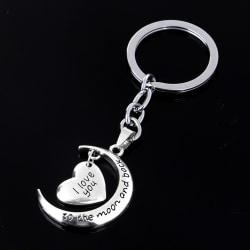 Broken Heart Silver Pendant Keyrings Keychain Key Chain Friends Silver One Size
