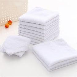 Creative 6pcs White Square Cotton Face Hand Car Cloth Towel Hou