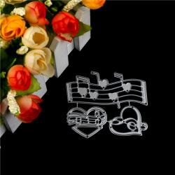 Kreativ musik Hjärtprägling Stansmunstycken för Scrapbooking De