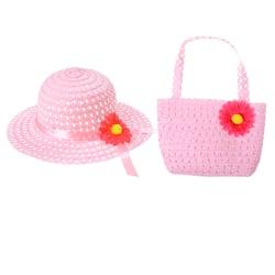 Söta tjejer barnstrand sommar solhatt påsar blomma stråhatt mössa