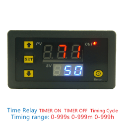 DC 12V 20A Digital Display Time Delay Relay Timing Timer Cyclin Black