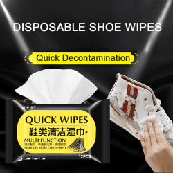 Disposable Shoe Wipes Cleaning Tools Care Shoes Useful Fast Scru Black