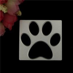 Hundtassavtryck Metallskärmunstycken för stencilprägling Scrapbo